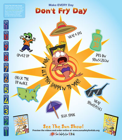 Sun Safety For Kids Dont Fry Day
